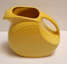 """NEW FIESTA Water Circle Yellow Pitcher MEASURES:  7 1/2"""" Tall"""