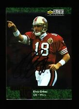 1997 COLLECTORS CHOICE CHAMPIONS ELVIS GRBAC #TC13 49ERS SIGNED AUTO