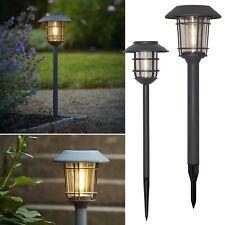 Premium Solare Lampada da Strada Filamento IN Metallo & Vero Vetro Grafite LED
