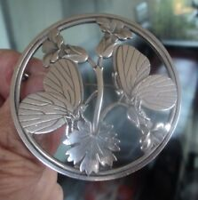 Brooch 283 Denmark 1960s Midnight Blossom Georg Jensen Large Danish Stg Silver