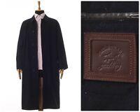Mens PAUL & SHARK Long Coat Jacket Packable Wool Cashmere Black Size 2XL