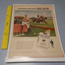 New listing 1940's-50's AD HERBERT TAREYTON CIGARETTES Mr. Henry Lewis III Polo Man Cave