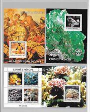 ST.Tome'E. Principe (St.Thomas)- 4 Handsome souvenir sheets/ All MNH- priced low