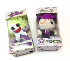"Dc Comics 2.5"" Joker And Penguin Voodoo Doll Keychains Phone Charms Figure Nib"