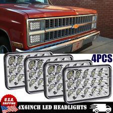 chevy c10 led c30 headlight c20 beam headlights 4x6 cree 4pcs camaro lo hi ford 1985 chevrolet