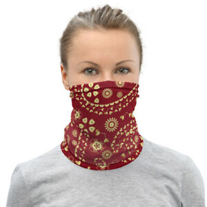 Red Western Bandana Style Paisley Neck Gaiter Face Mask Covering Alternative
