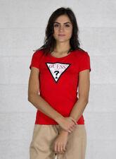 T-shirt, maglie e camicie da donna a manica corta rossi GUESS