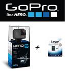 ACTION CAM TELECAMERA GOPRO HERO 5 BLACK +MEMORY LEXAR 32GB 12MP 4K IMPERMEABILE