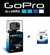 ACTION CAM TELECAMERA GOPRO HERO 5 BLACK +MEMORY LEXAR 32GB 12MP 4K IMPERMEABILE