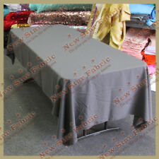 Tablecloth Polyester / Polypoplin 90 X 132 inches Rectangle Charcoal 134