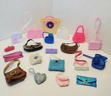 Barbie PURSE LOT #4 Accessories Clutch Crossbody Tote Saddle Bag Messenger Beach