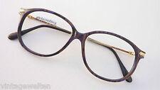 Damen Brille Herrengestell dunkel marmorierte Pantobrille Materialmix Größe M