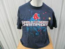 VINTAGE GILDAN BOSTON RED SOX 2007 WORLD SERIES CHAMPIONS LARGE BLUE SHIRT NWT