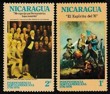 1-2cts, NICARAGUA 'Independence 1776' Series Stamps set of 2, issued 1975 - MNH