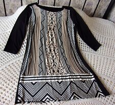 Short tunic dress by M&S COLLECTION Size 12 Black brown beige.