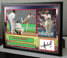 "Shane Warne Cricket Framed Canvas Print Signed.""Great Gift or Souvenir"""