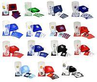 OFFICIAL FOOTBALL CLUB - MINI BAR SET (Pint Glass/4 Mats/Bar Towel){15+ Clubs}