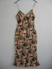 BN gorgeous CATHERINE MALANDRINO pearl pink sequined chiffon dress Size UK 10