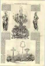1851 Vienna Statuettes Fernkorn Group Of Glass Mr Green