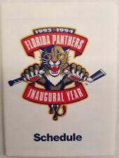 1993 1994 FLORIDA PANTHERS  INAUGURAL SEASON POCKET SCHEDULE - RARE NON SPONSOR
