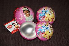 DISNEY Princesses, lot de 3 boules décoration de Noël en métal à ouvrir, 7 cm