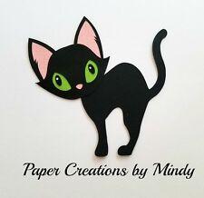 CRAFTECAFE MINDY BLACK CAT HALLOWEE Npremade paper piecing scrapbook die cut