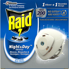 Raid Night & Day Mosquito Flies Repellent Electric Diffuser Full Pack + Refill