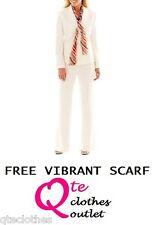 LE SUIT NEW Ivory Herringbone Long Sleeve Jacket & Pant 2pc Suit Petites 12P QCO
