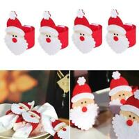 4* Non-woven Fabrics Napkin Rings Serviette Buckle Holder Christmas Y1S4