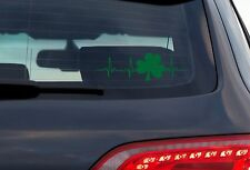 Shamrock - 8 Inch Green Vinyl Decal For Windows, Trucks, Cars