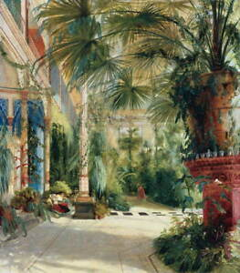 Carl Blechen The Interior Of The Palm House Poster Giclee Canvas Print