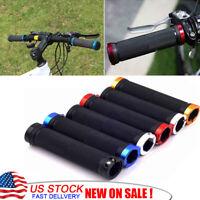 1Pair Double Lock On Locking Mountain BMX Road Bike Bicycle Handle Bar Grips US