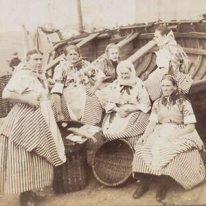 Scotland Edinburgh Newhaven Fisherrow Fishwives Women Costumes Stereoview E406