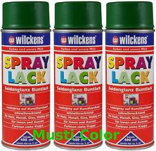 3x400ml Lackspray Farbspray Sprühdose Sprühfarbe Laubgrün Seidenglänzend RAL6002