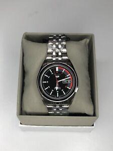 Seiko 5 SNK375K1 Automatic Black Speedometer Dial UK SELLER