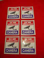 SURVEILLANCE SECURITY CAMERA WARNiNG DECAL/STICKERS for HOME or BUSINESS