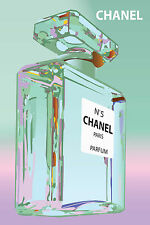 CHANEL 5 A1 CANVAS  VINTAGE ADVERTISING LARGE PINK
