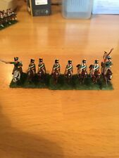 15/18mm Napoleonic  Chasseur's a Cheval x 12  , nicely painted