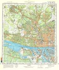 Russian Soviet Military Topographic Maps - HAMBURG WEST (Germany), ed.1986