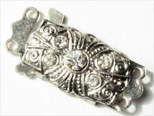 25mm Czech vintage 2 strand crystal rhinestone necklace clasp closer.