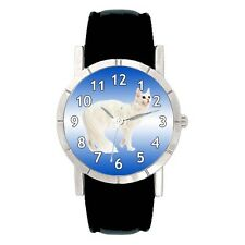 Turkish Angora Cat Mens Ladies Water Resistant Leather Band Wrist Watch SA2734