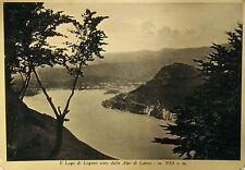Il Lado di Lugano visto dalle Alpi di Lanzo - m. 950 s.m.