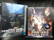 Captain America Civil War NovaMedia Lenticular Slip 3D Blu-Ray Steelbook w/PET