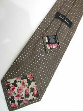 "Paul Smith GOLD Tie VERY RARE ""MAINLINE"" Gold Spot Classic Blade Made in Italy"