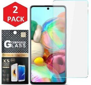 2x Samsung Galaxy A71 Panzerfolie Premium Schutzglas Echt Glas Display 9H Schutz