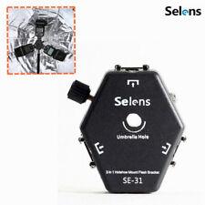 Selens 3 in 1 Triple Speedlite Flash Light Hot Shoe Mount Adapter Holder Bracket