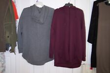 NEW Womens ATHLETIC WORKS XL Burgundy or XXL Gray Long Sleeve Jacket w/Hoodie