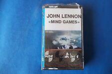 """JOHN LENNON """"MIND GAMES """" MC K7 TAPE EMI TALENT SEALED"""