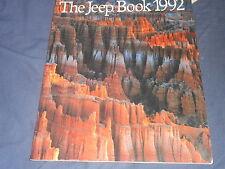 CATALOG CHEROKEE 1992 JEEP WRANGLER COMANCHE 60 Page 9 x 11 Inch BROCHURE