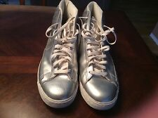Nike Blazer Shoes Metallic Silver/White Men's dunk high Hi tops Athletic Sz 15